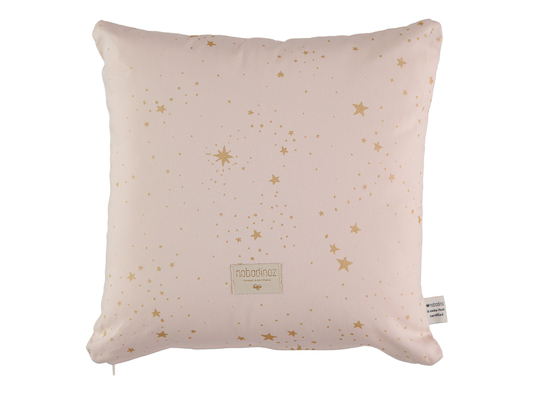 Cojin Descartes 38x38 gold stella/ dream pink