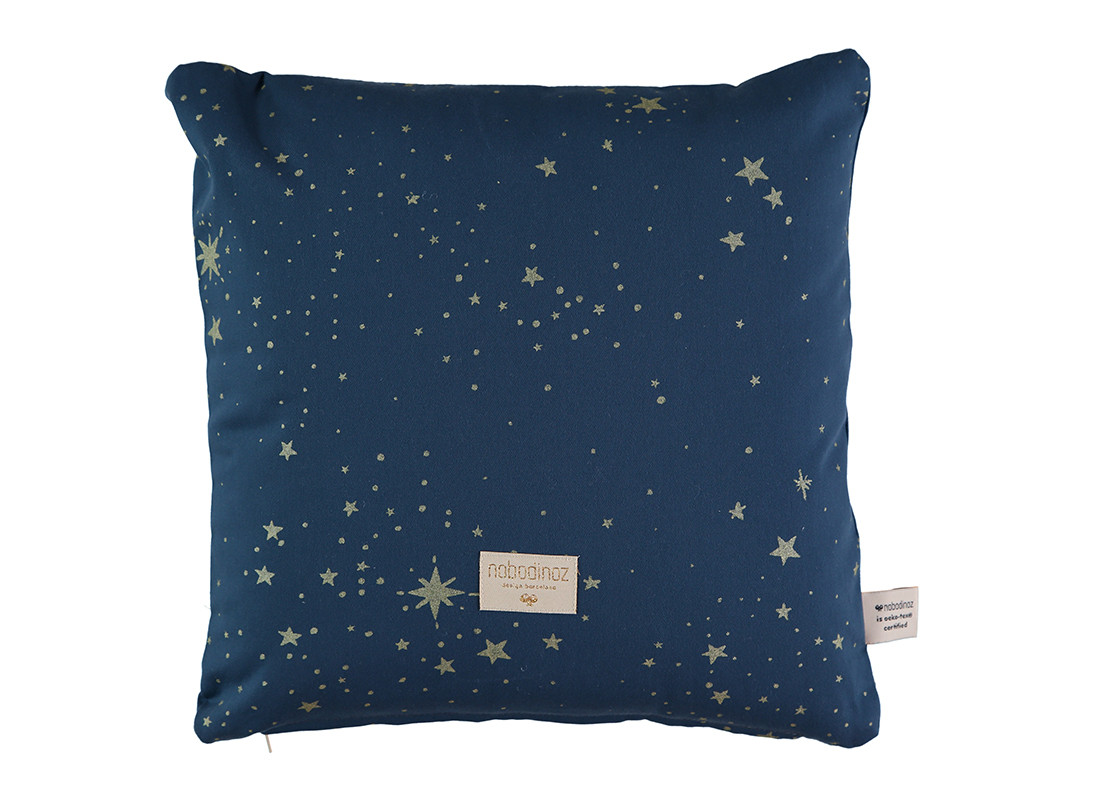 Cojin Descartes 38x38 gold stella/ night blue