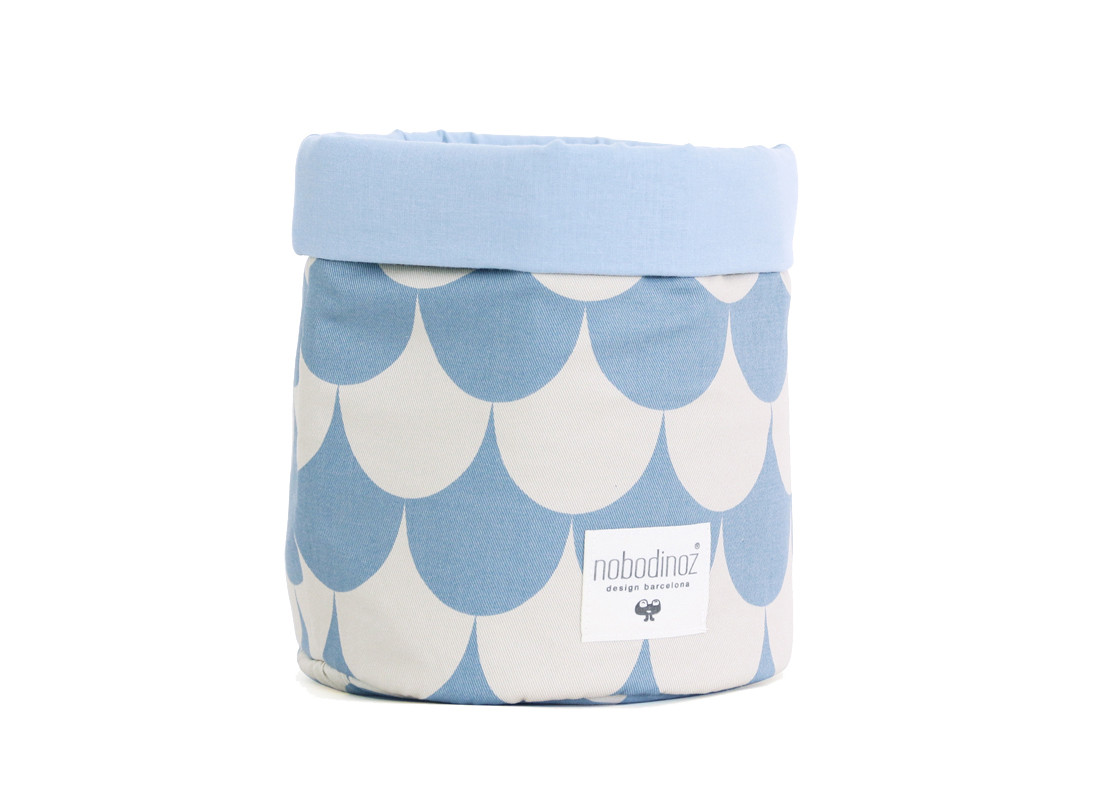 Cesta Mambo escamas azules - 3 tallas