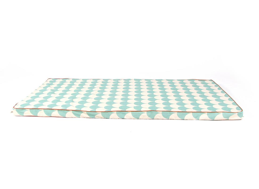 Colchoneta de suelo Saint Tropez 120x60x4 escamas verdes