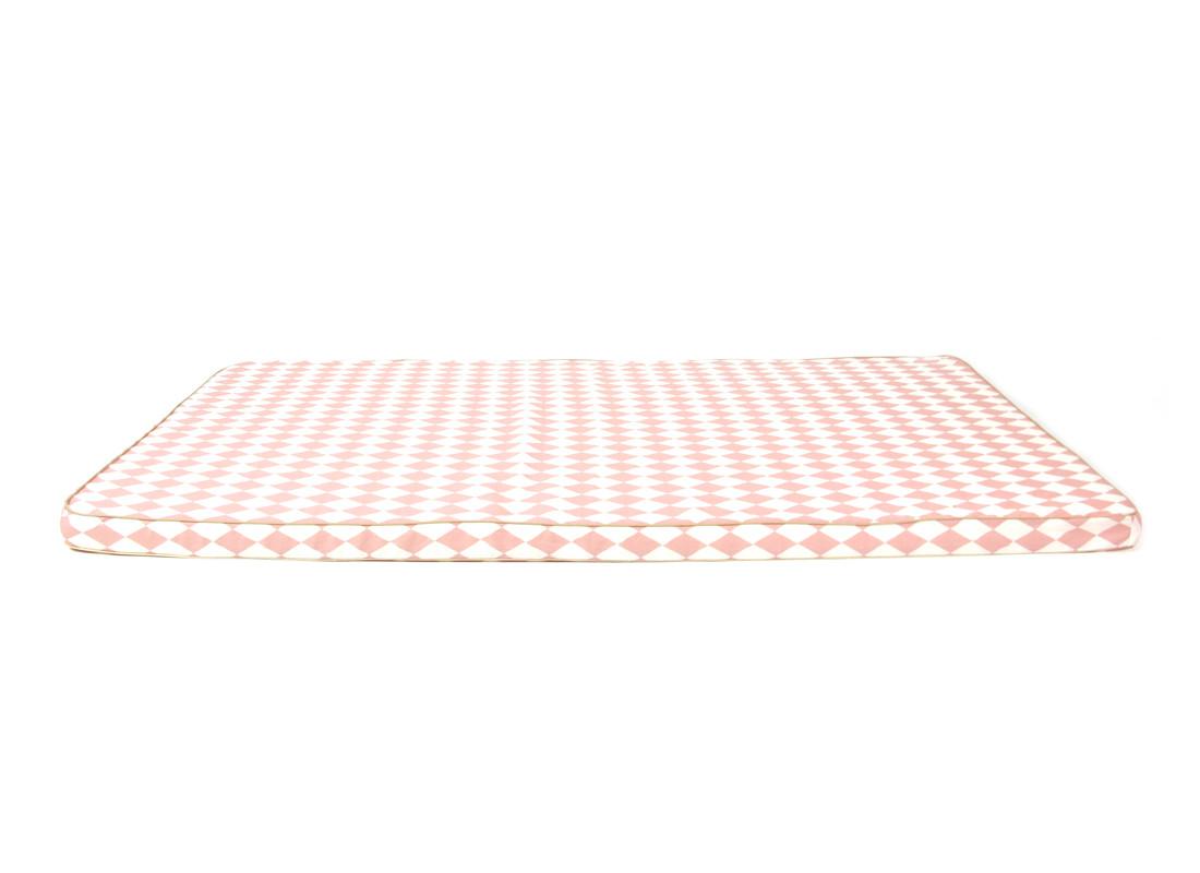 Colchoneta de suelo Saint Tropez 120x60x4 rombos rosas