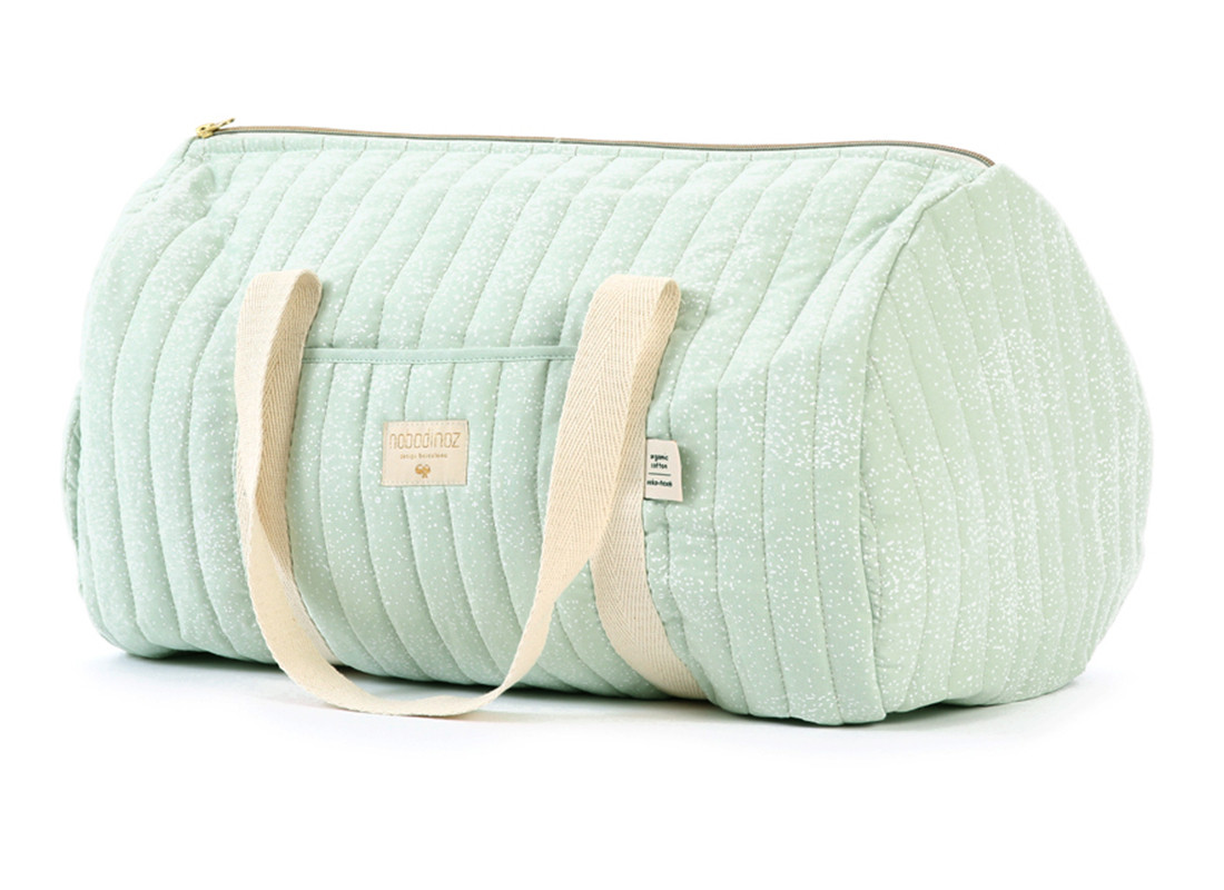 Bolsa weekend New York 30x45x30 white bubble/ aqua