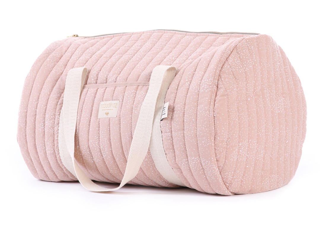 Bolsa weekend New York 30x45x30 white bubble/ misty pink