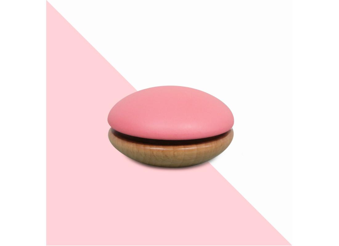 Yoyo de madera 6x6x4cm rosa