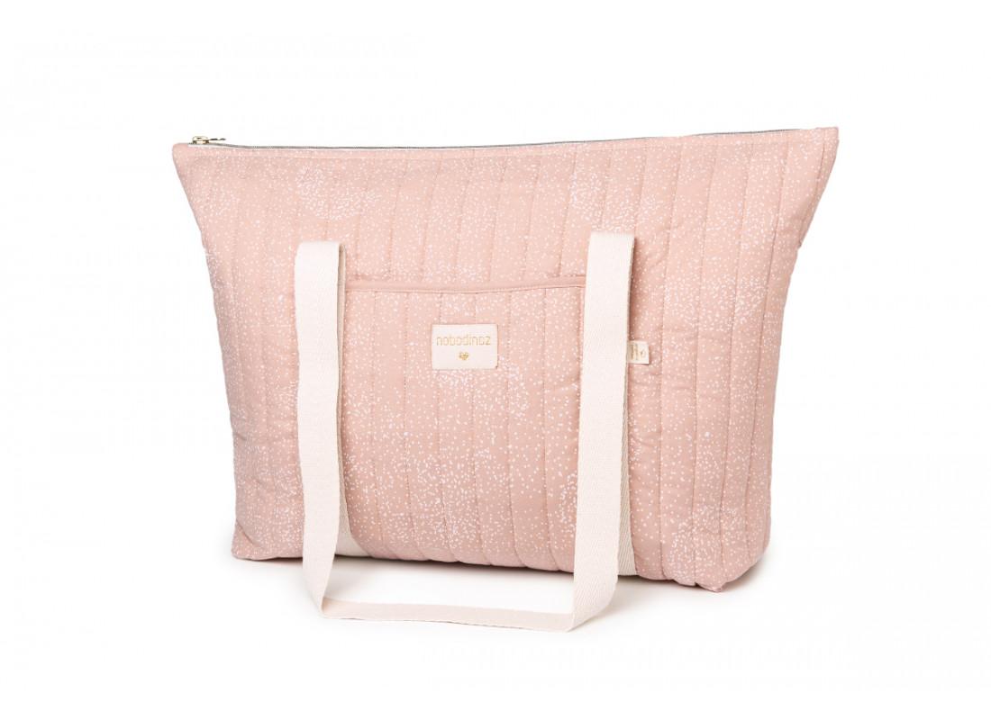 Bolsa de maternidad Paris • white bubble misty pink