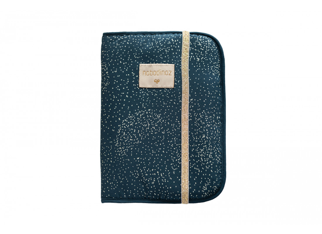 Funda libro de salud A5 Poema • gold bubble night blue