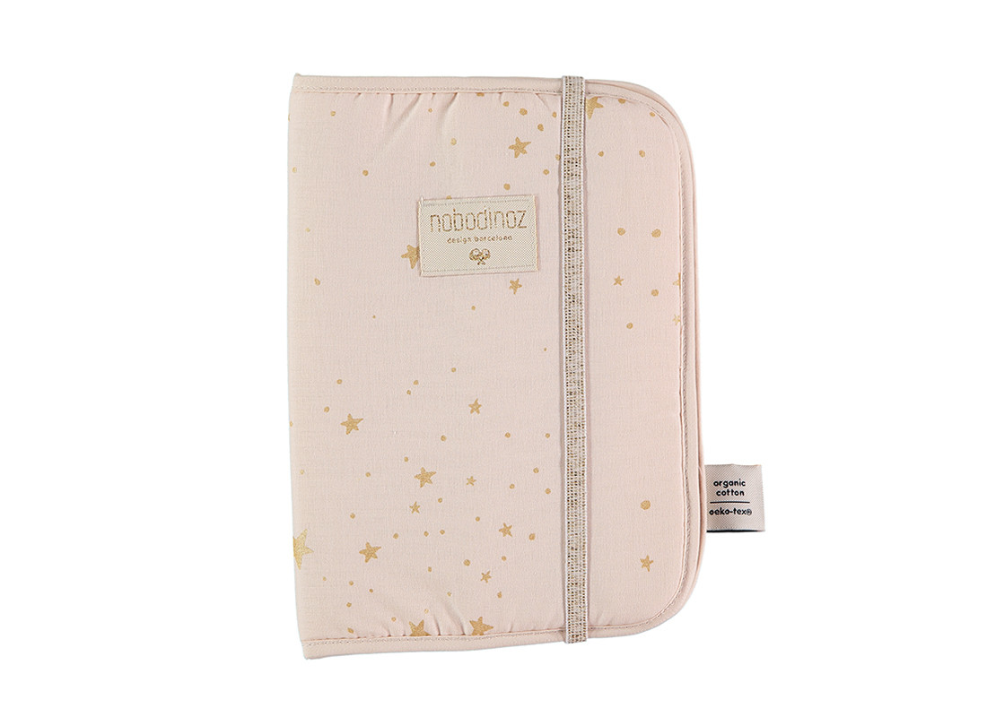 Funda libro de salud Poema A5 24x18 gold stella/ dream pink