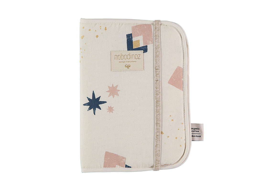 Funda carnet de salud Poema A5 24x18 night blue eclipse/ natural