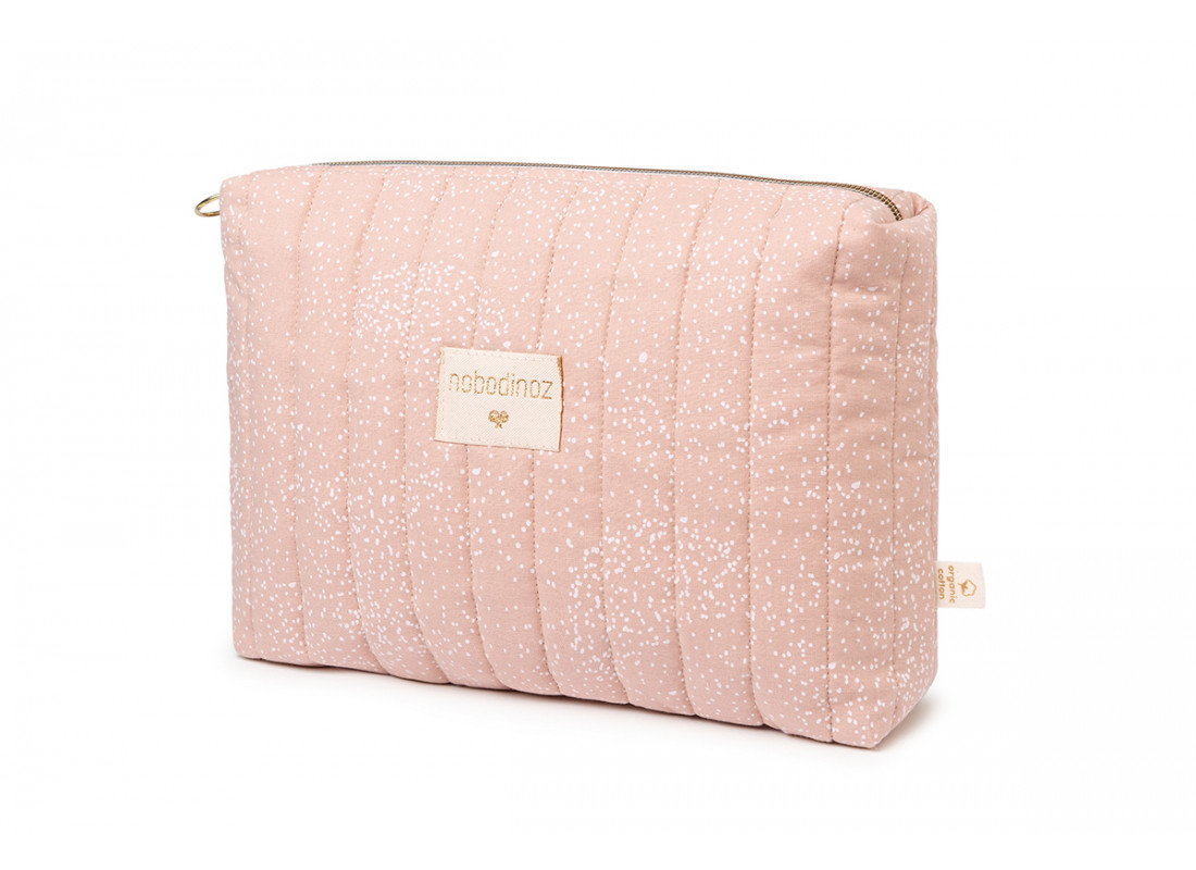 Neceser Travel • white bubble misty pink