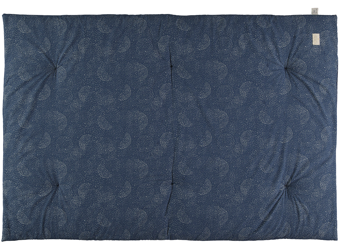 Eden futon 148x100x6 gold bubble/ night blue