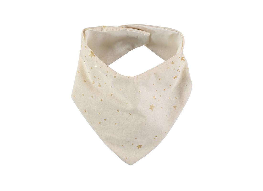 Lucky bandana bib 16x43 gold stella/ natural