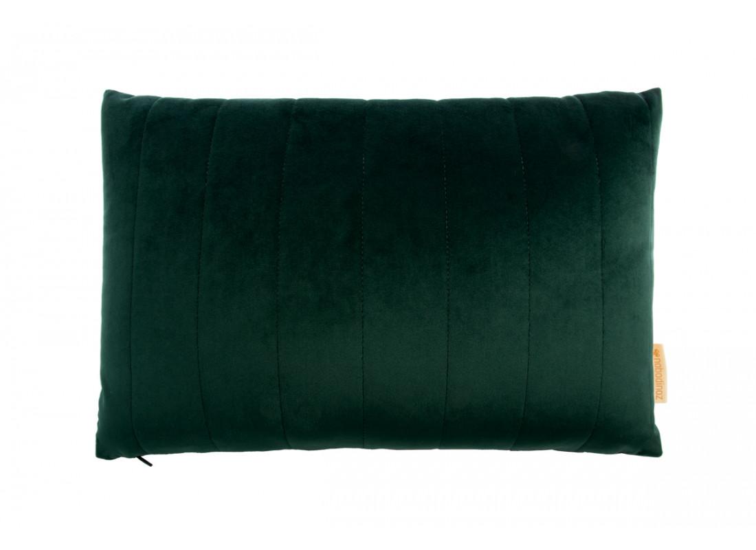 Akamba velvet cushion jungle green