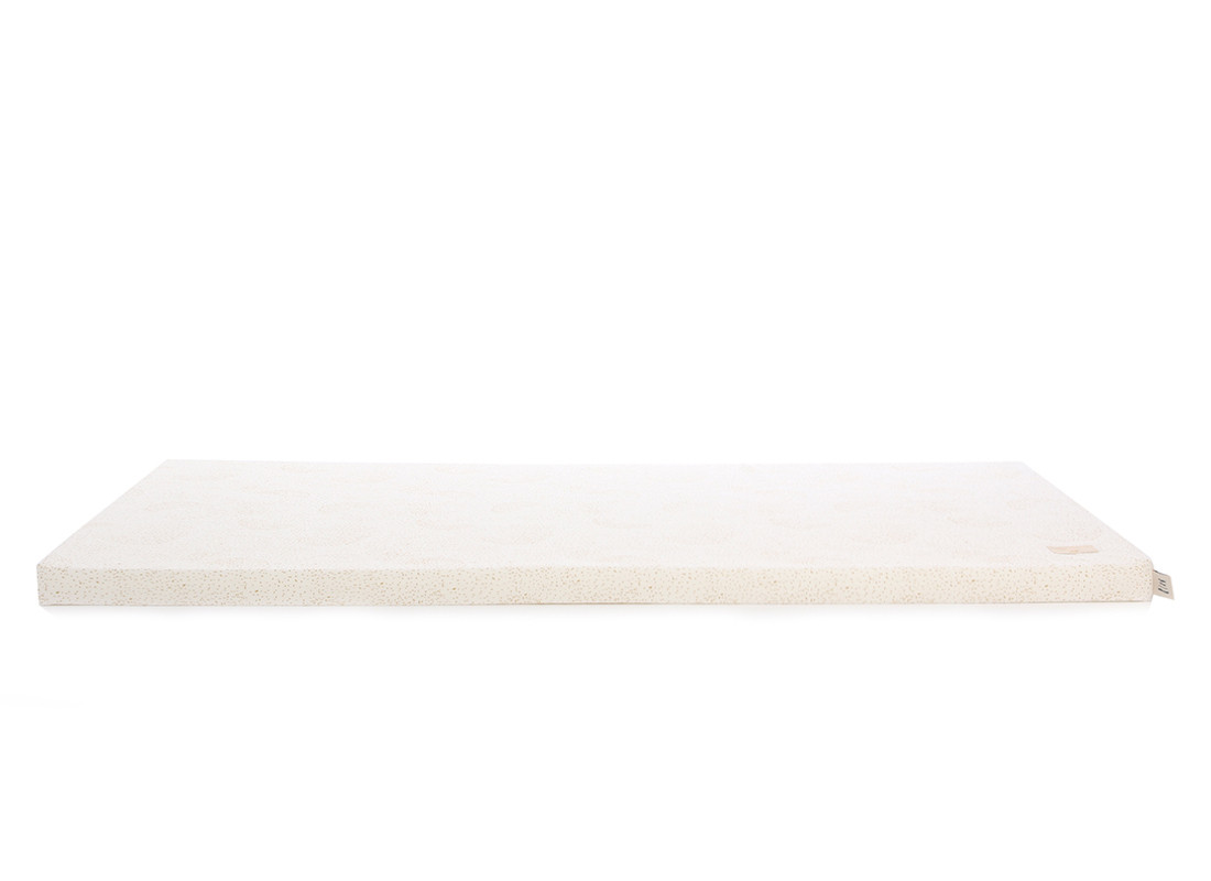 Saint Barth floor mattress 60X120X4 gold bubble/ white