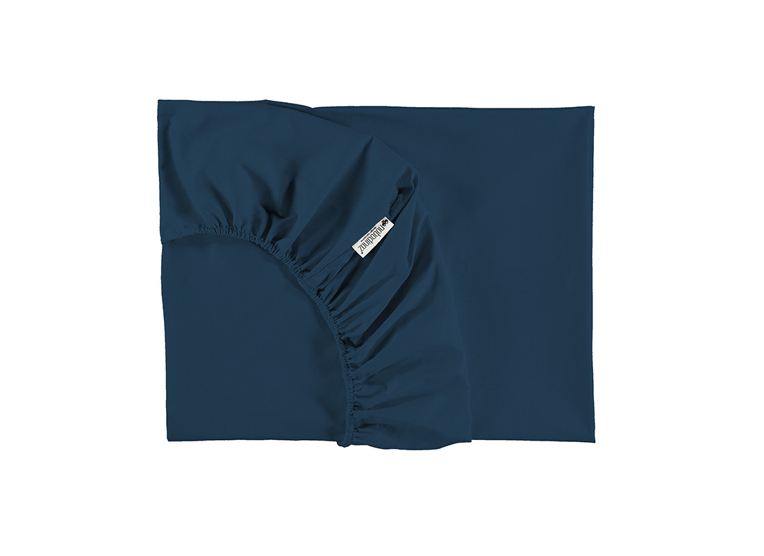Tibet fitted sheet • night blue