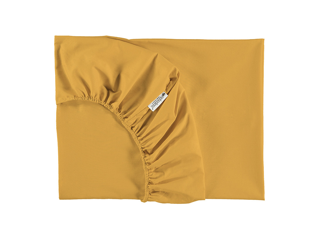 Alhambra fitted sheet • farniente yellow