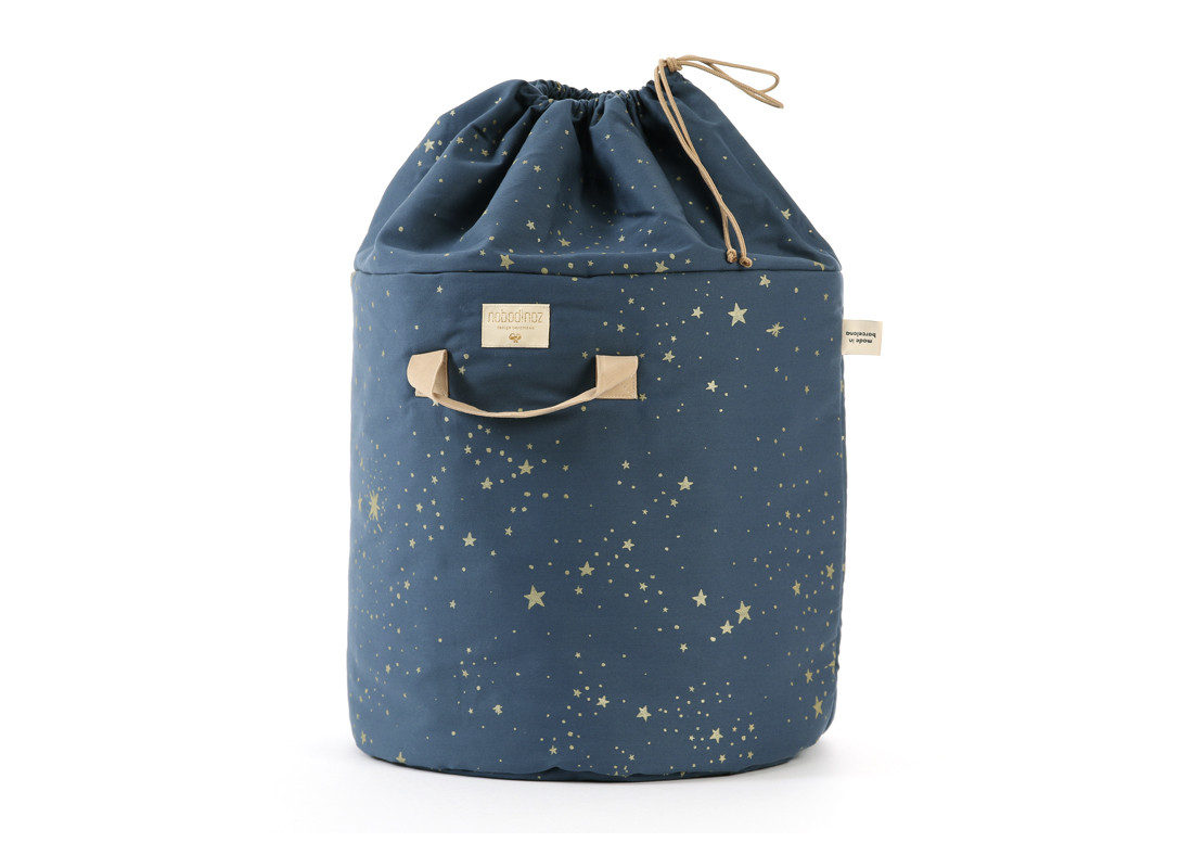 Bamboo toy bag gold stella/ night blue - 2 sizes