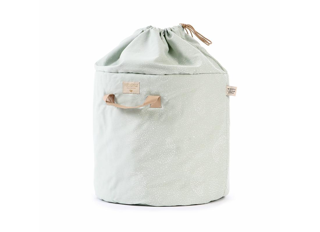 Bamboo toy bag white bubble/ aqua - 2 sizes