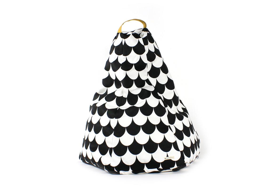 Marrakech kid beanbag • black scales