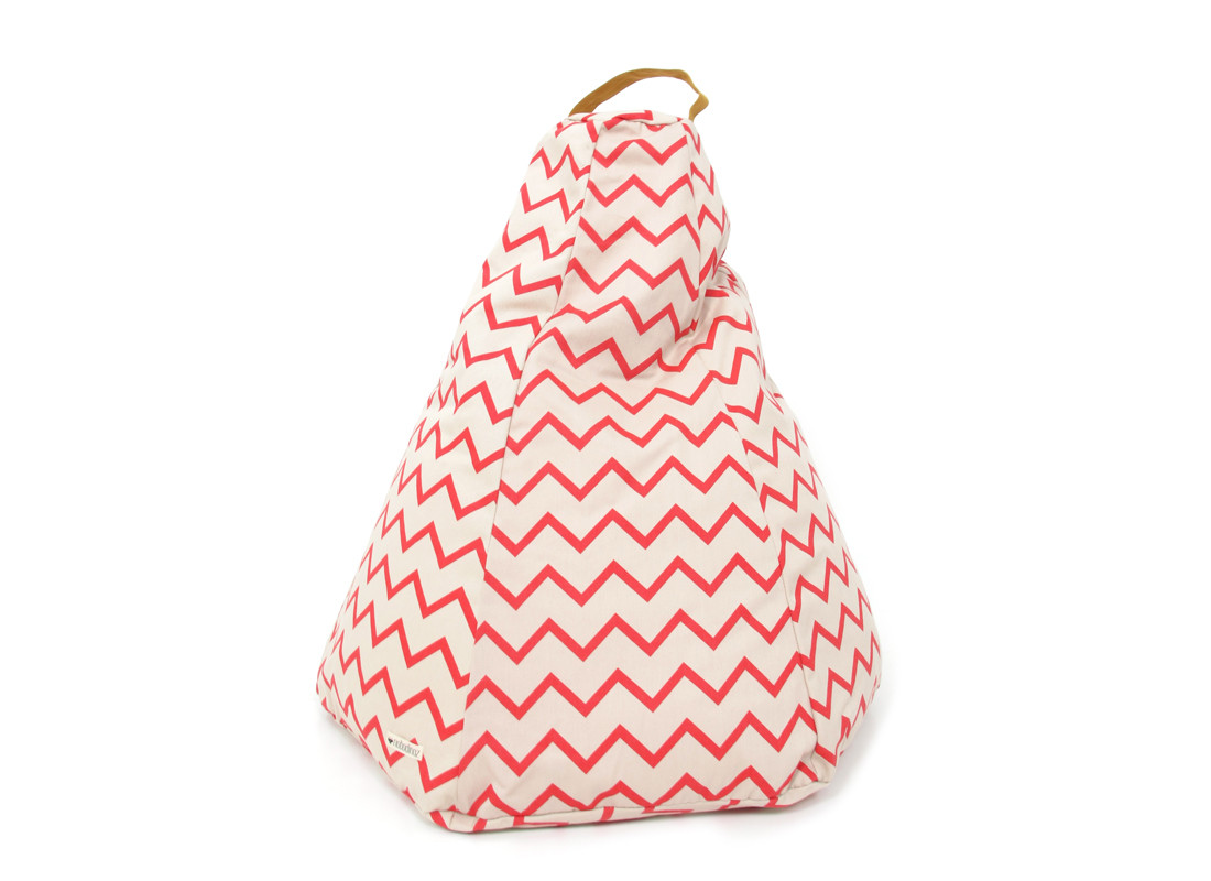 Marrakech kid beanbag • zigzag pink