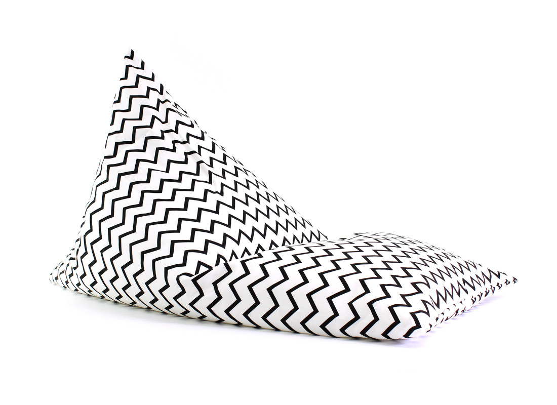 Essaouira kid beanbag • zigzag black