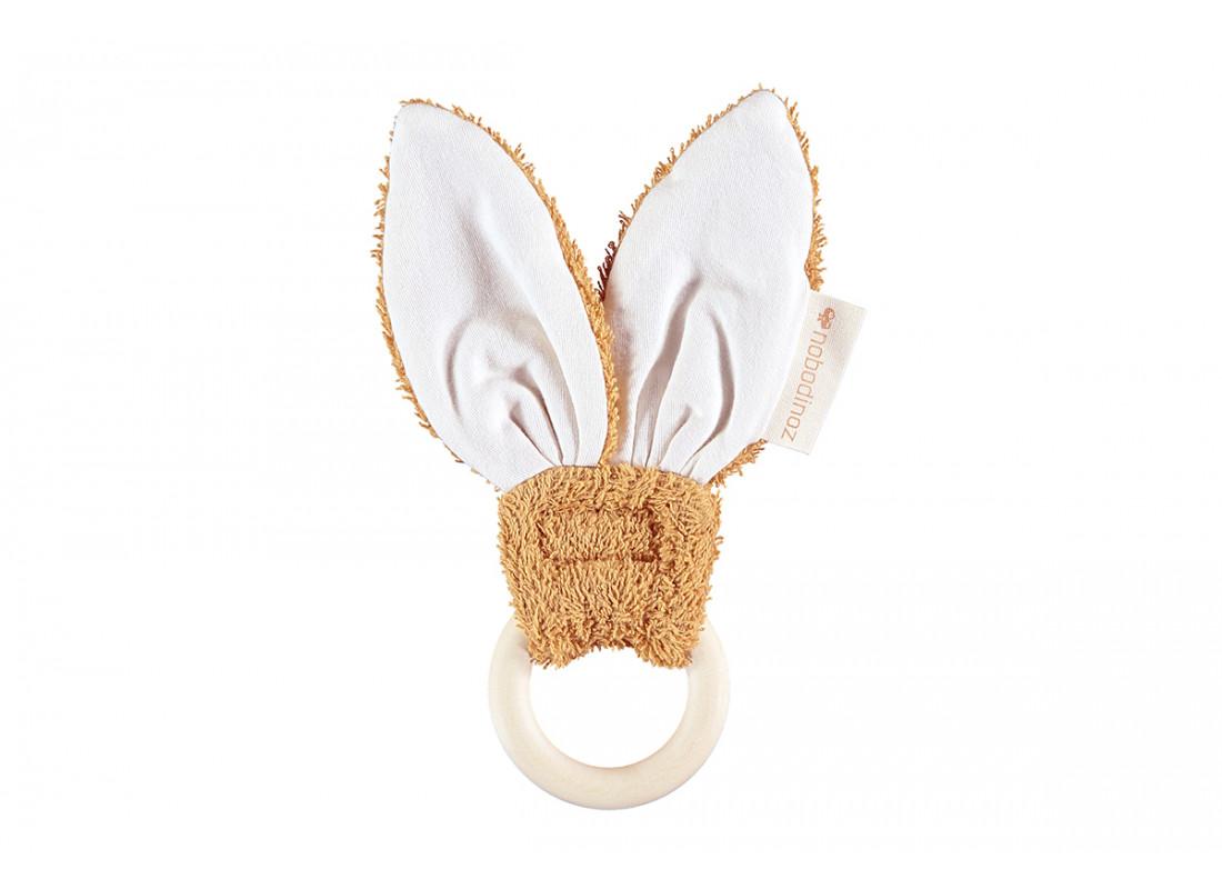 Bunny teether ring • caramel