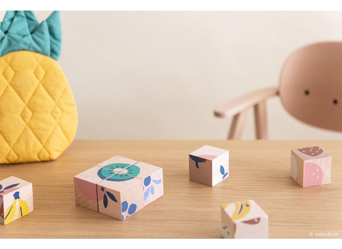 Fruits wooden cubes