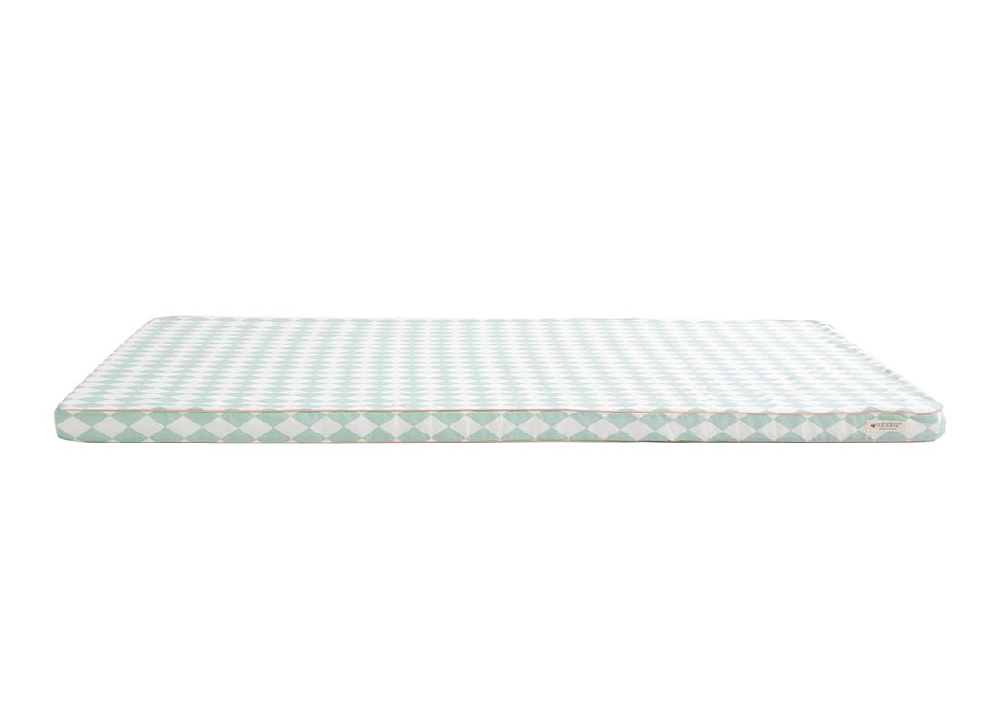 Saint Tropez play mattress • green diamonds