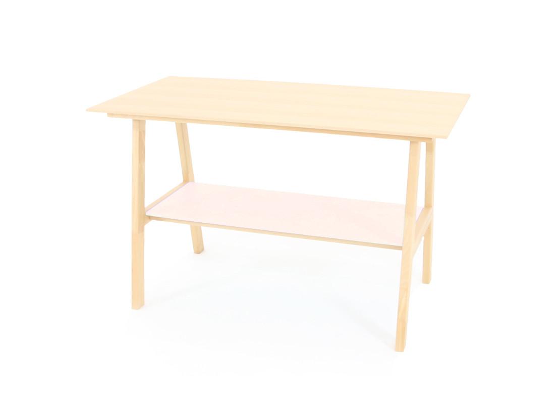 Beech wood Table • pink