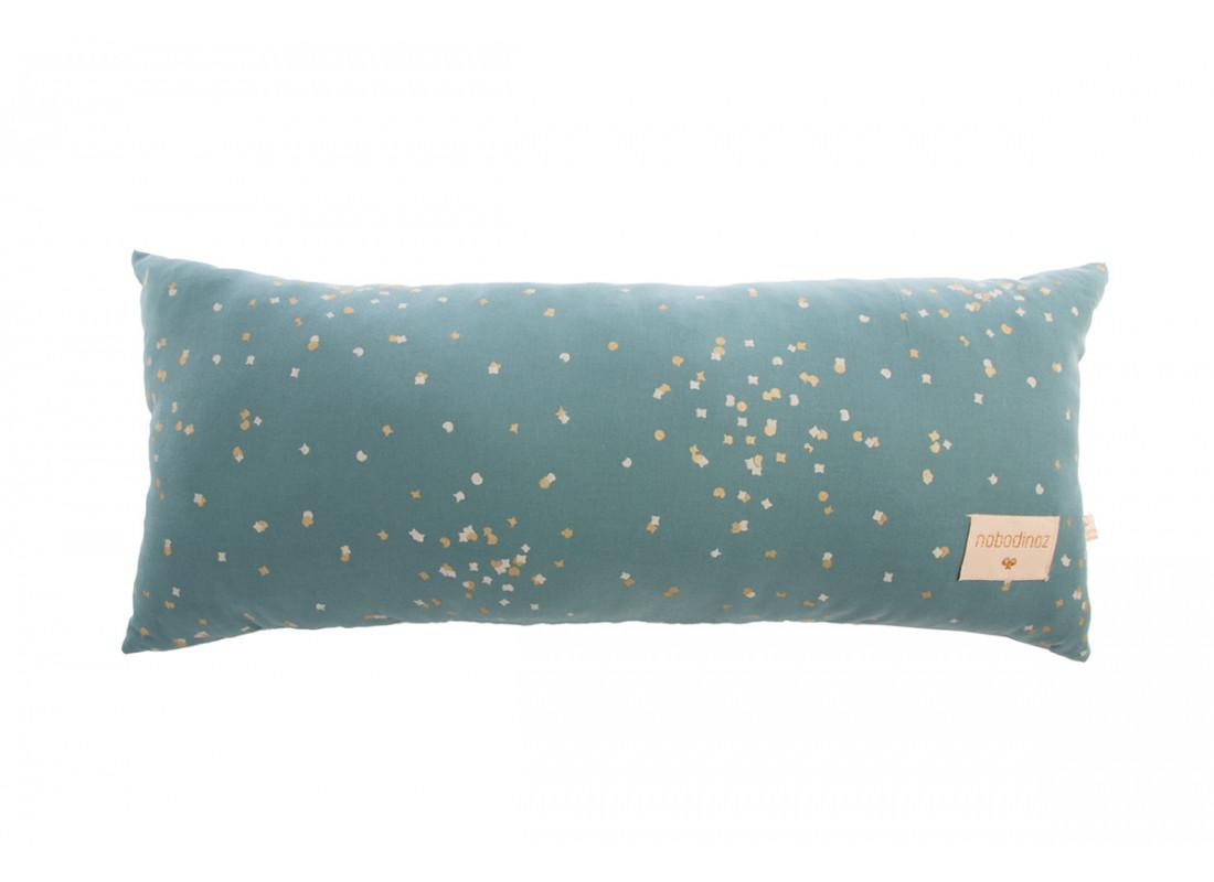 Hardy cushion • gold confetti magic green