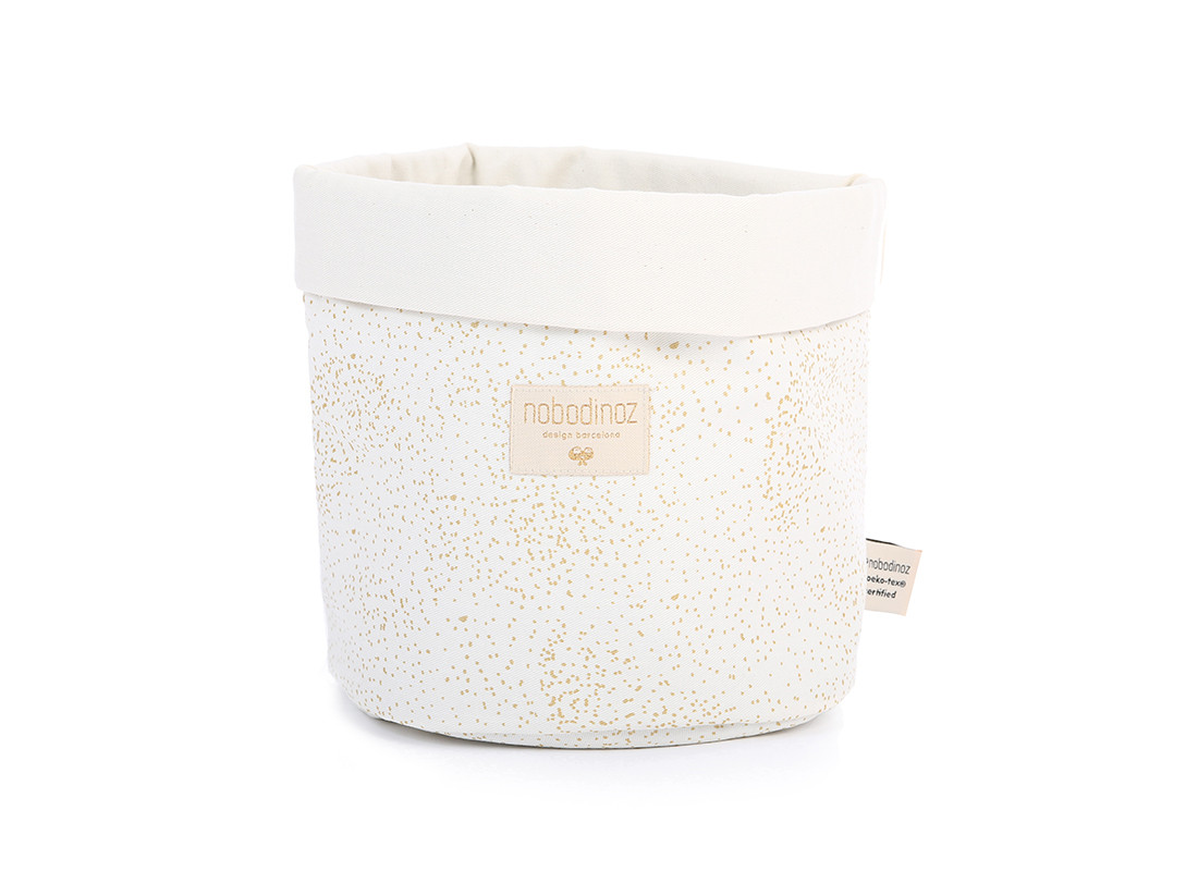 Panda basket gold bubble/ white - 3 sizes