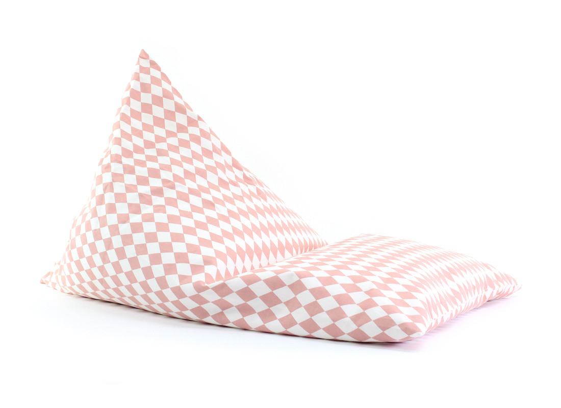 Essaouira kid beanbag • pink diamonds
