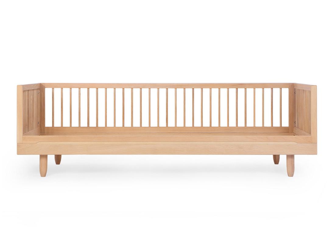 Pure oak wood sofa extension 90x200