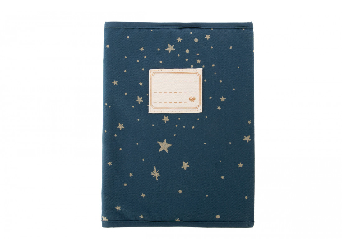 Too Cool book sleeve A5 gold stella/ night blue