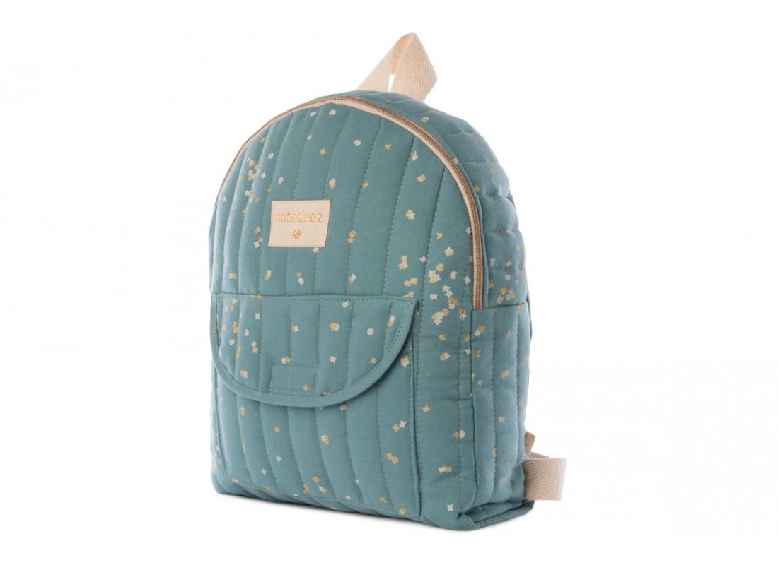 Too Cool kid backpack gold confetti/ magic green