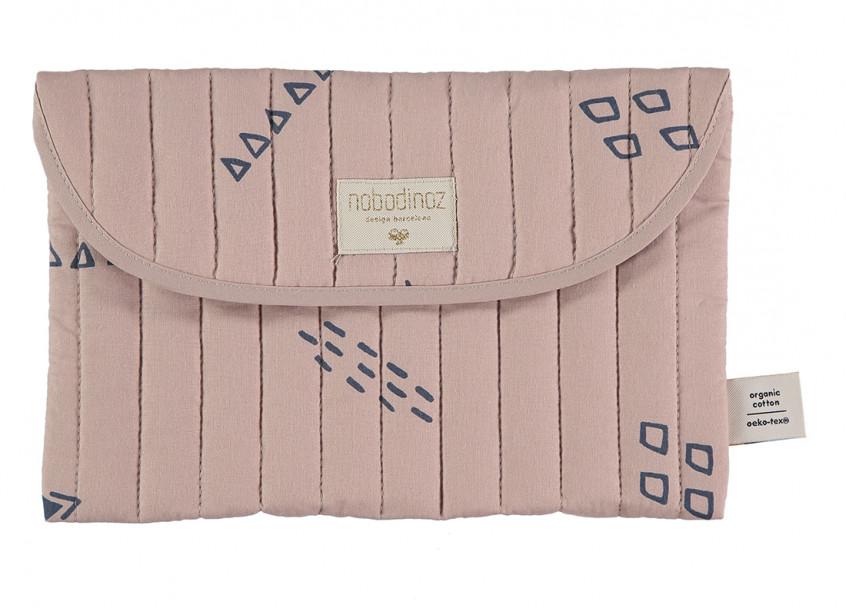 Bagatelle pouch 19x27 blue secrets/ misty pink