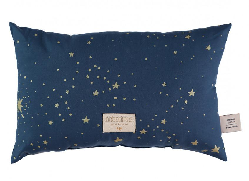 Laurel cushion • gold stella night blue