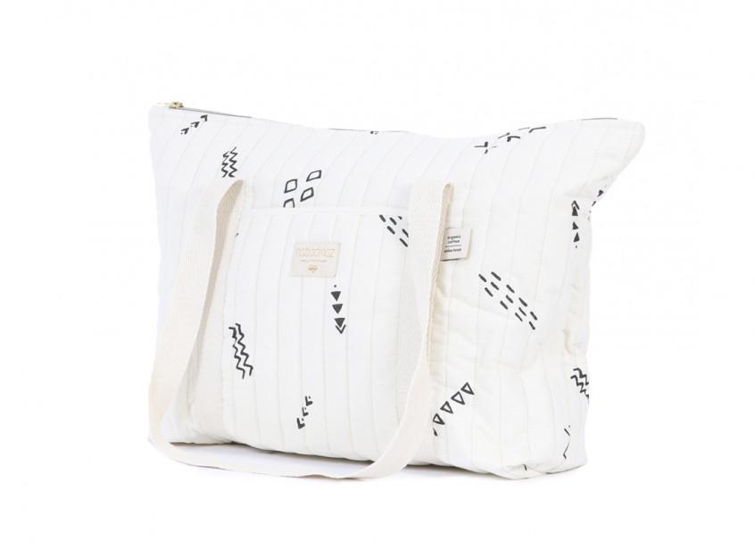 Paris maternity bag 34x50x12 black secrets/ natural