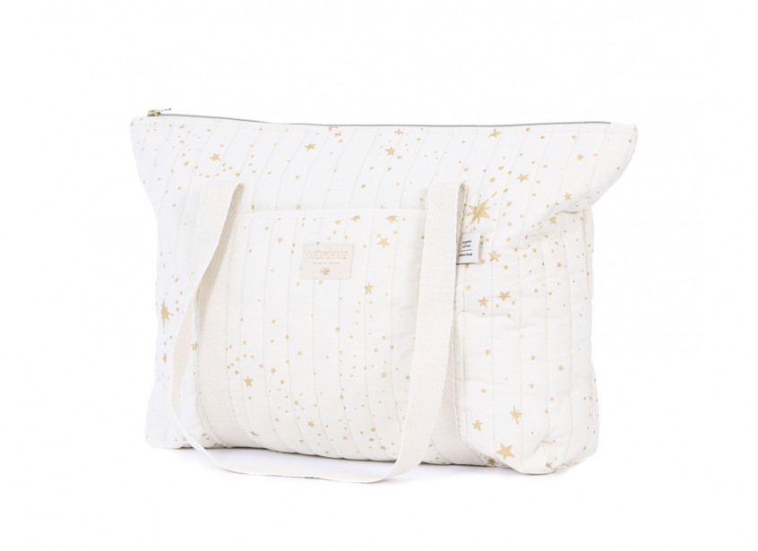 Paris maternity bag 34x50x12 gold stella/ natural