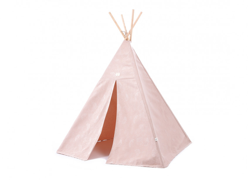 Phoenix teepee 149x100 white bubble/ misty pink