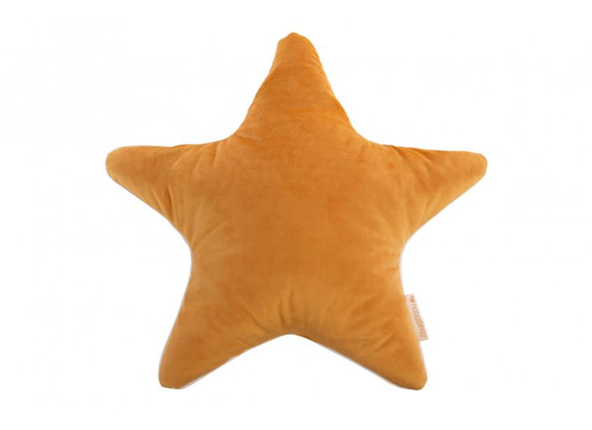 Aristote star velvet cushion farniente yellow