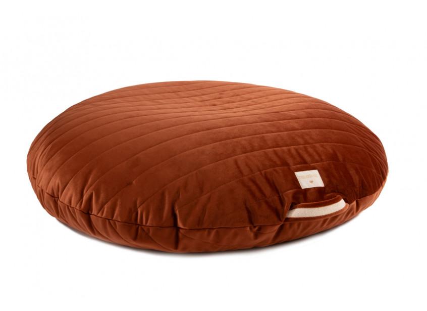 Sahara floor cushion • velvet wild brown