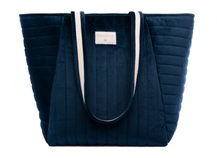 Savanna velvet Maternity Bag night blue