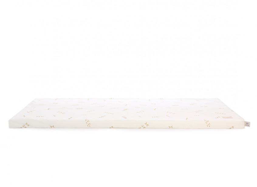 Saint Barth floor mattress 60X120X4 gold secrets/ white