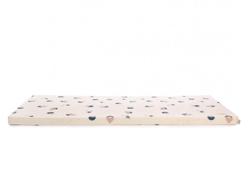 Saint Barth floor mattress 60X120X4 night blue eclipse/ natural