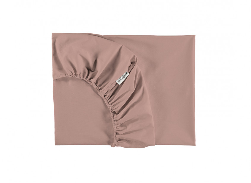 Tibet fitted sheet • misty pink