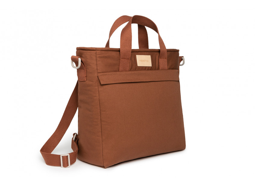 Baby on the go waterproof changing backpack • clay brown