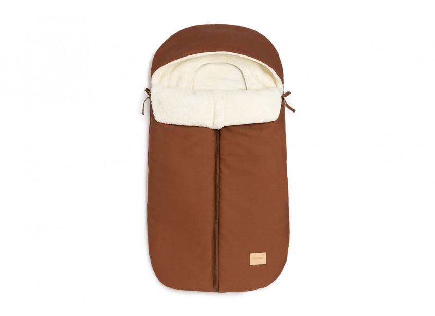 Baby on the go waterproof footmuff • clay brown