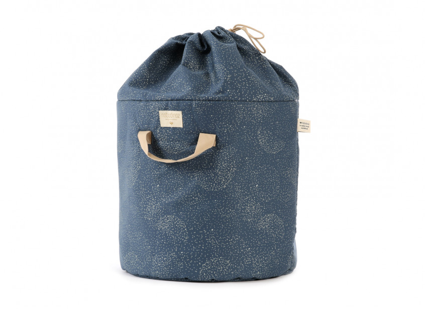 Bamboo toy bag gold bubble/ night blue - 2 sizes