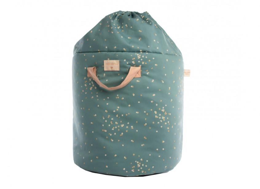 Bamboo toy bag gold confetti/ magic green - 2 sizes