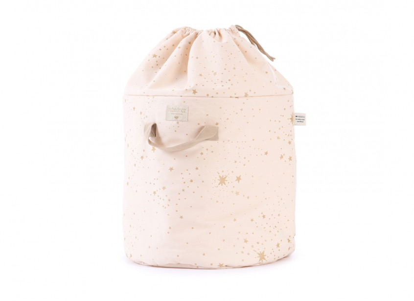 Bamboo toy bag gold stella/ dream pink - 2 sizes